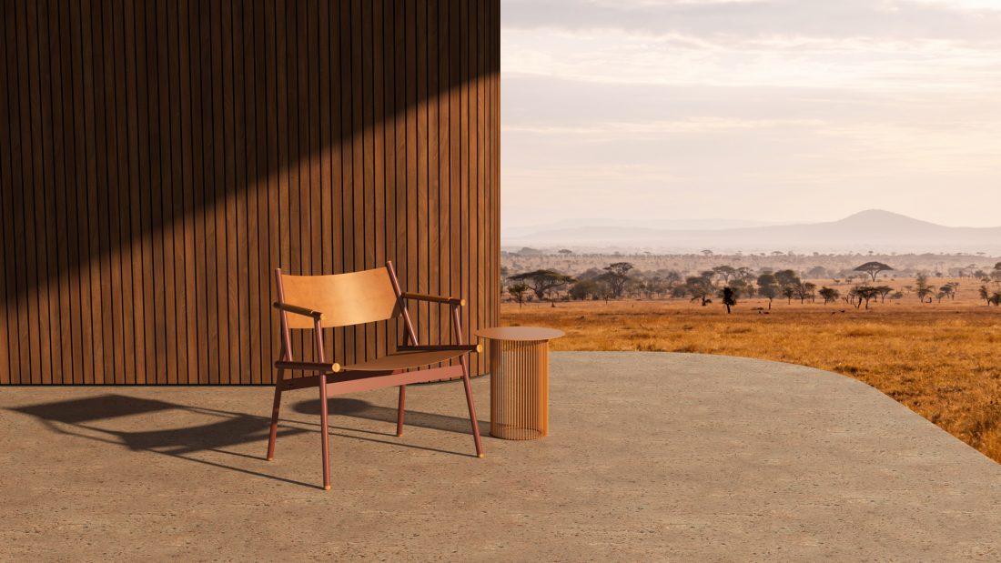 Slingshot chair by Haldane in Serengeti