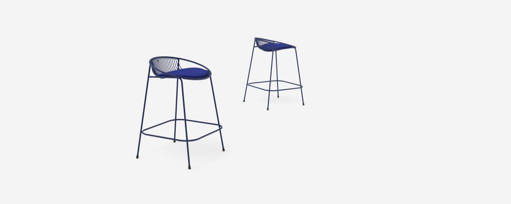 Hula kitchen stool blue - Haldane