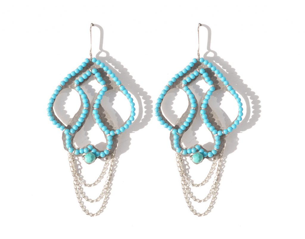 Smith Silver & Turquoise Earrings, R 1200