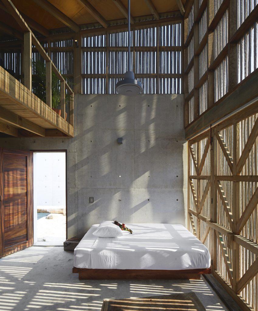 Mexican beach house bedroom