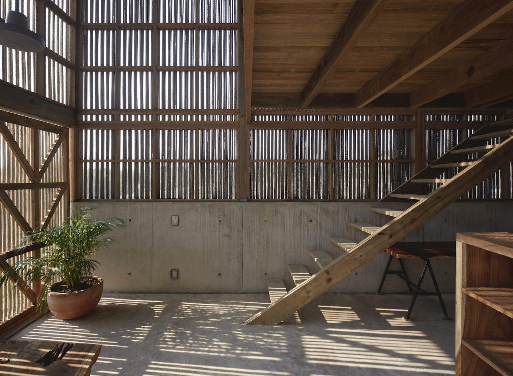 Mexican beach house interior