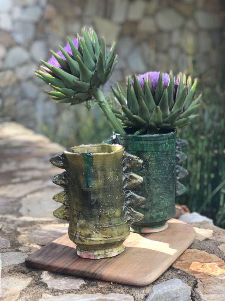 The storer, Tamegroute pottery vases, outdoor furniture