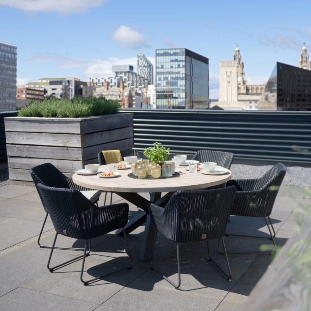 Woodenways, Avila dining set, outdoor furniture