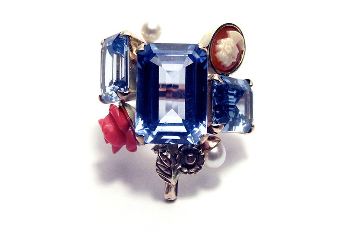 blue cluster ring, Eric Loubser