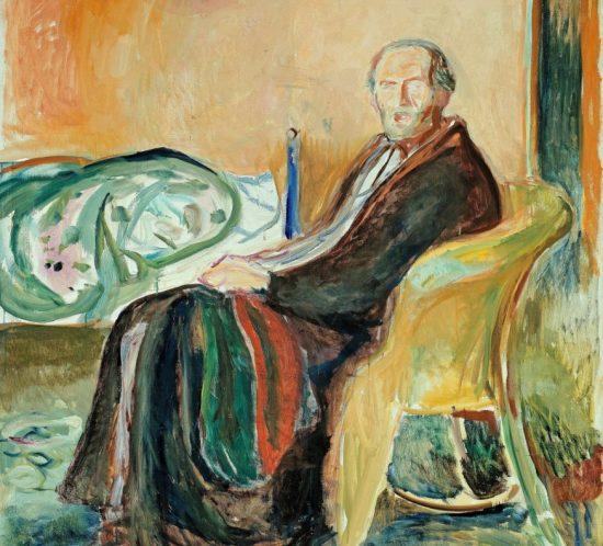 Edvard Munch, Self portrait with the Spanish Flu (1919)