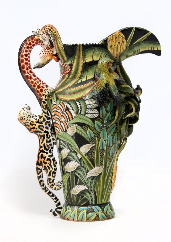 Vessel, Wild creatures, African luxury, Tropical, Decor