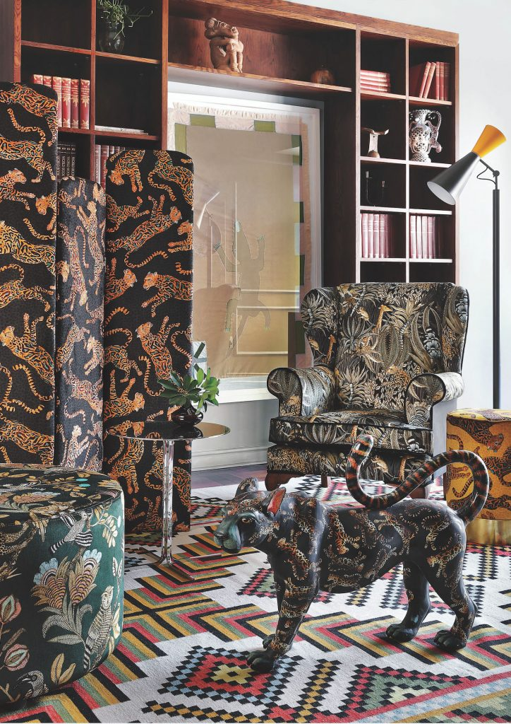 Johannesburg, South Africa, Arm chair, Leopard, Textile, Decor, Ottoman