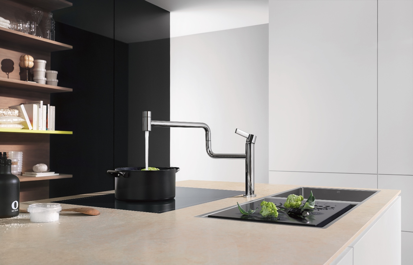 Flush, Dorn, Kitchen, Spaces, Decor, Interior design, Modern