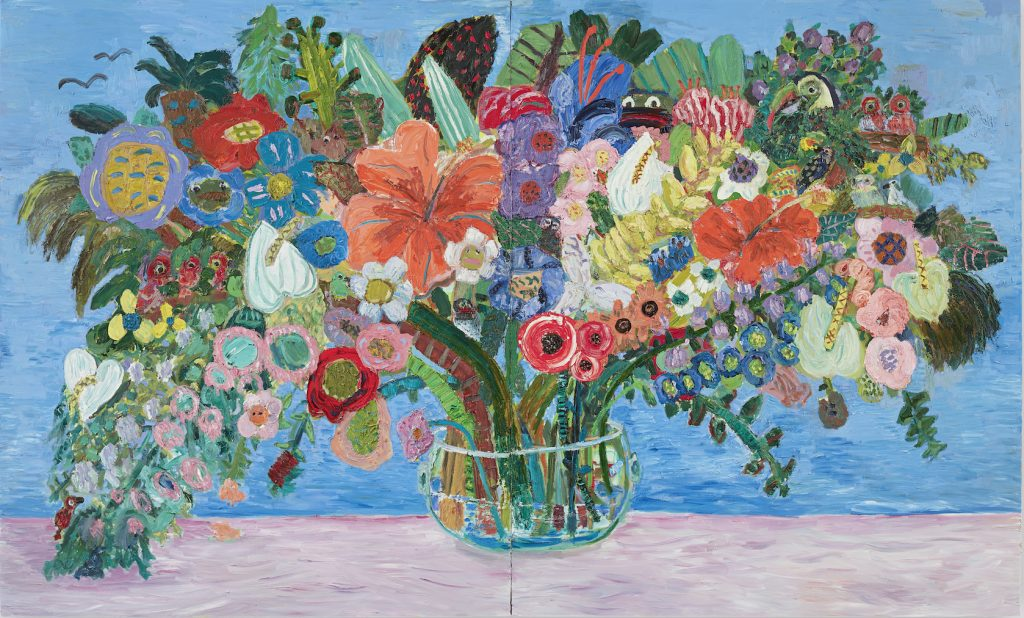 Georgina Gratrix_All the Birthdays Bouquet_2016_Oil on Board_244 x 400 cm