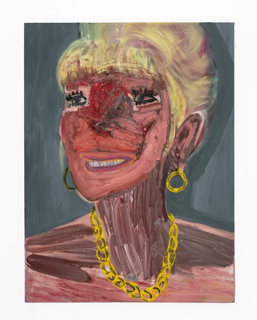 Georgina Gratrix_Filler Face_2020_Oil on Canvas_120 x 90 cm_HR