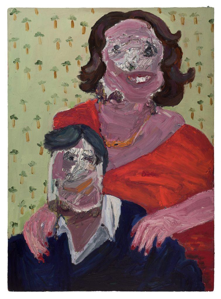 Georgina Gratrix_Happy Couple_2011_Oil on Board_122 x 89 cm_HR