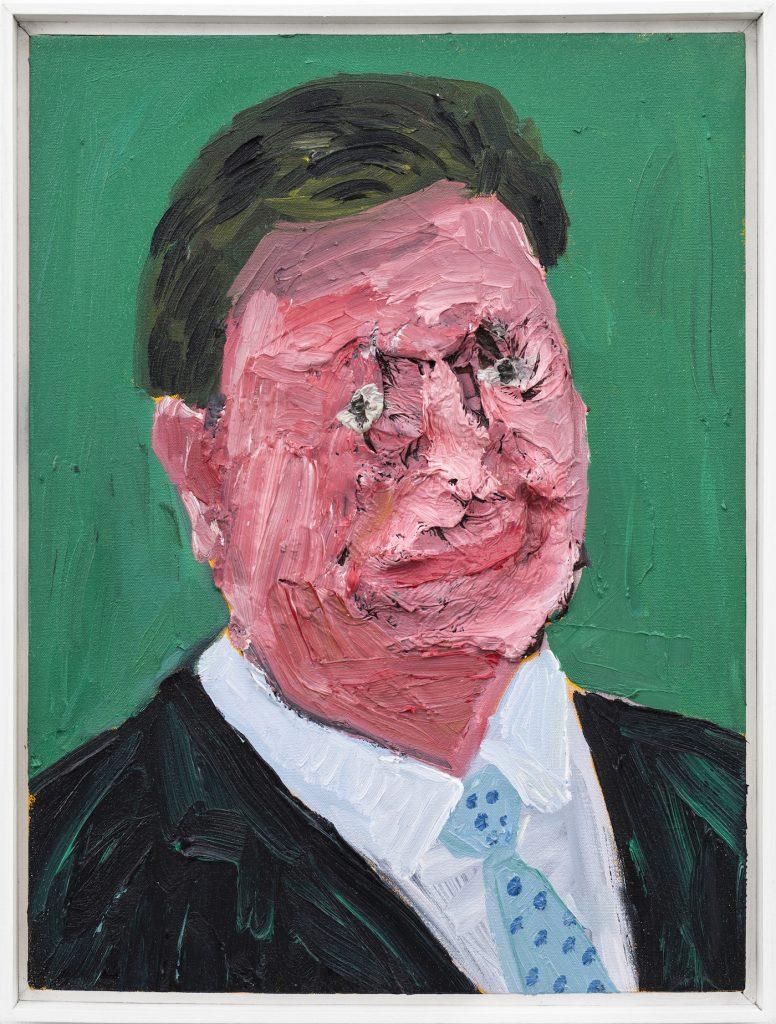Georgina Gratrix_Man in Spotty Tie_2019_Oil on Canvas_60 x 40 cm_HR