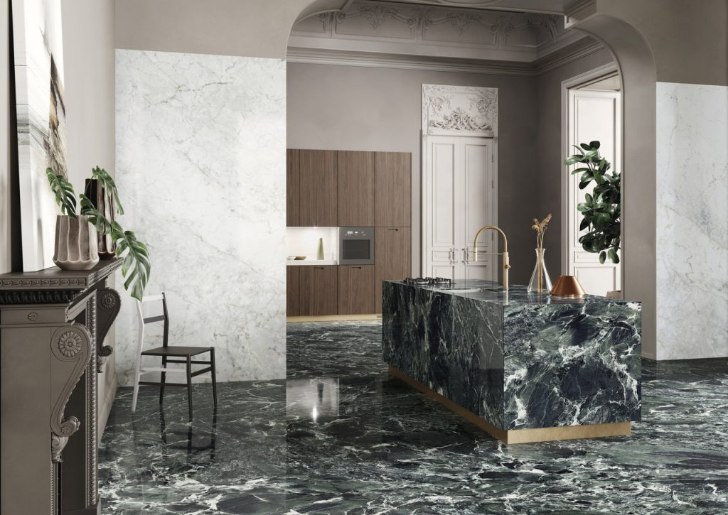 Cannata, Kitchen decor, Aosta green, Interior, Marble