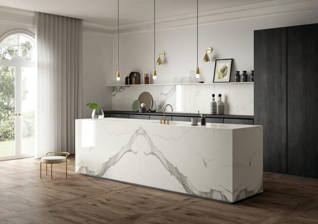 Marmi, Cannata, Modern design, Calacatta, Mirror, Marble counter, Pendant lights