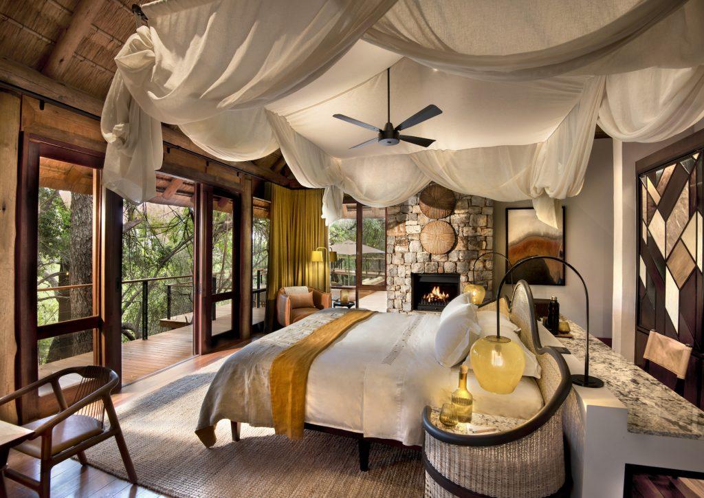 Bedroom decor, Interior design, Art, Linen, Lamps, Bedside table