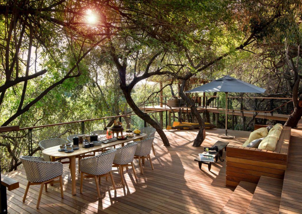 Morukuru House, Deck, Terrace, Dining, Lounging, Outdoor seating, Umbrella, Table accessories