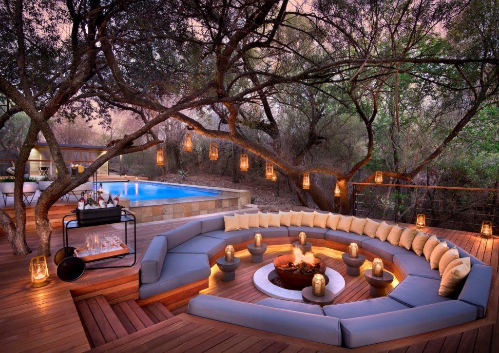 Morukuru House, Firepit, Pool, Outdoor seating, Outdoor cushions, Outdoor lighting, Lanterns, Drinks car, Deck