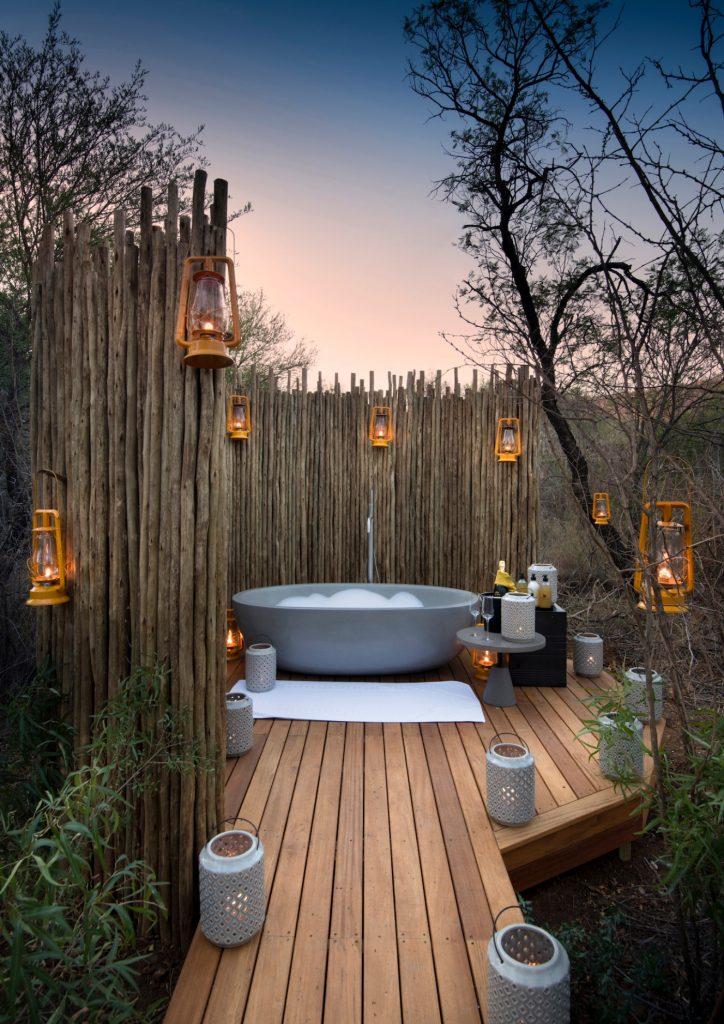 Morukuru House, Outside Bath, Romantic, Lanterns, Nature, Sunset