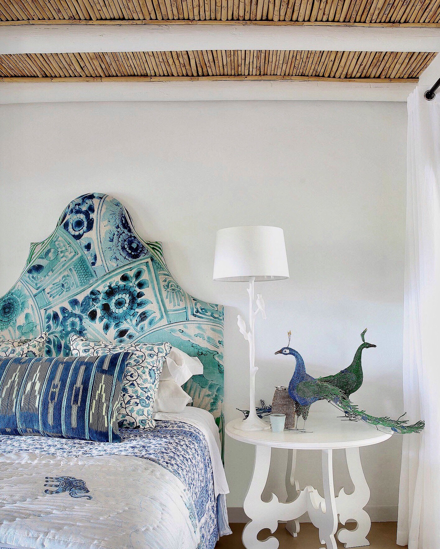 Botanica Trading, Aqua, Emerald, Duck Deer headboard, Bedroom, Decorate, Decor, Bedding, Scatter cushions, Accessories