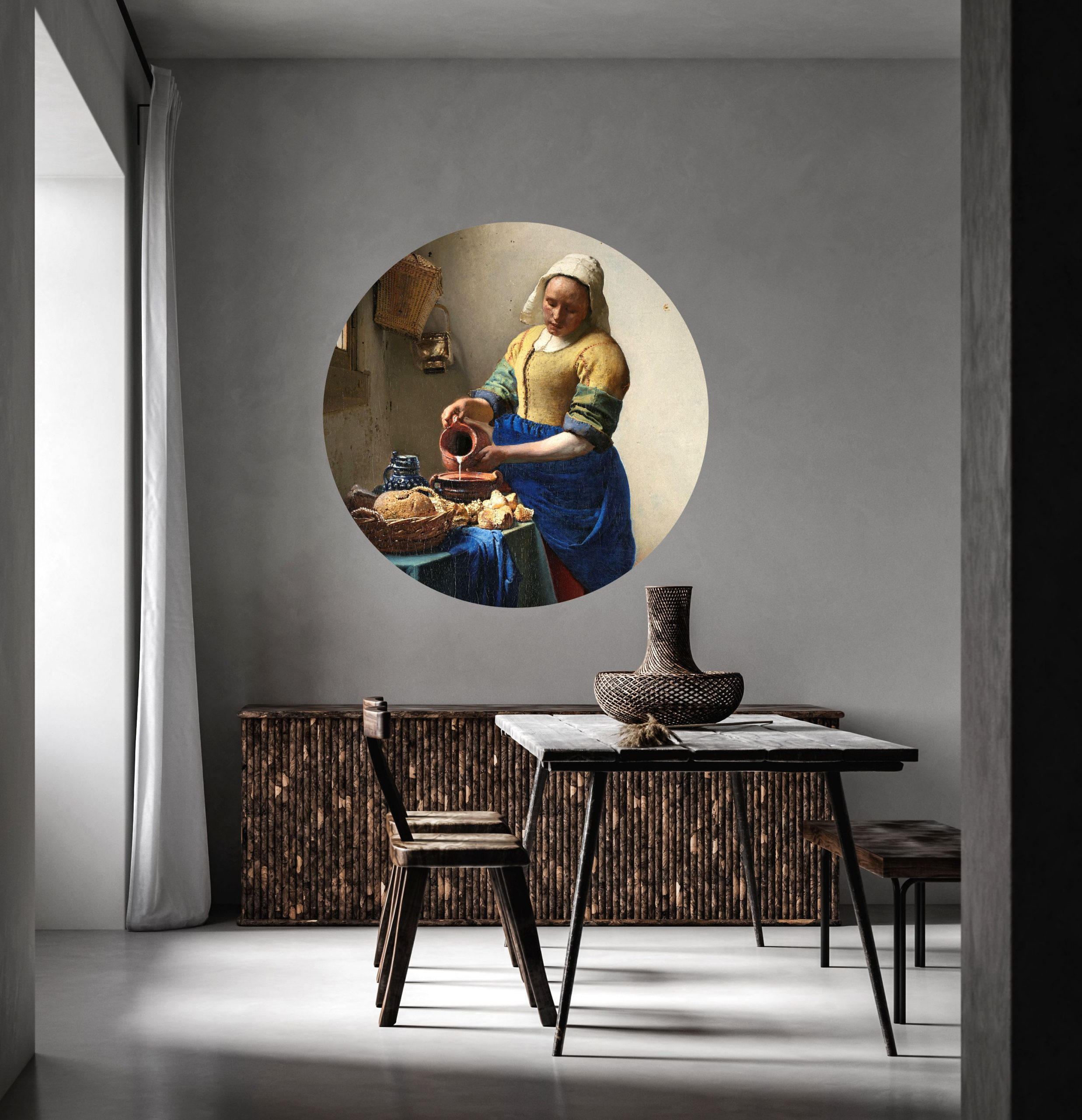 Decals, Old Masters, Milk Maid, Dining room, Decor, Spaces