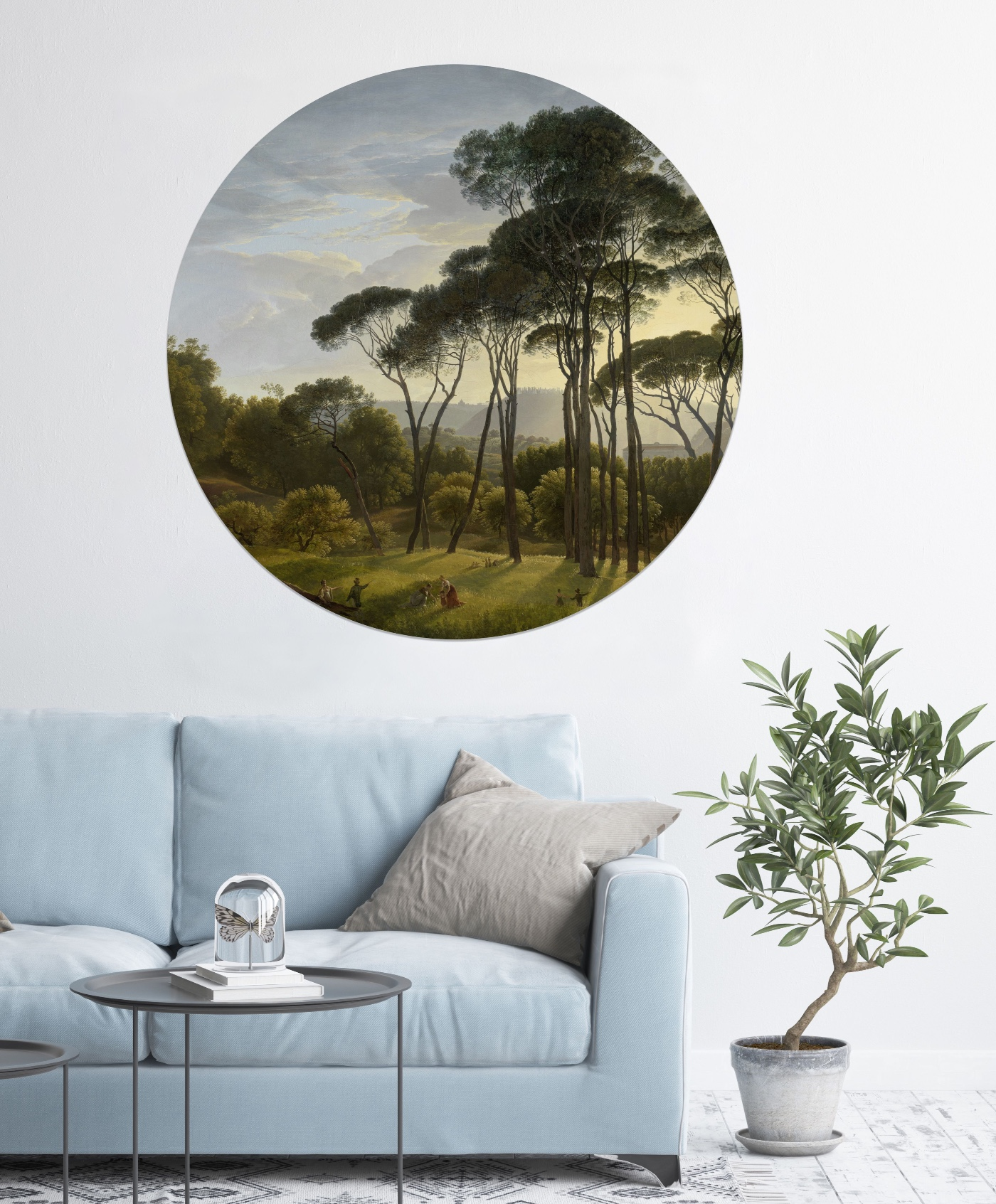 Decals, Old Masters, Interior design, Decor, Couch, Coffee table, Pot plant