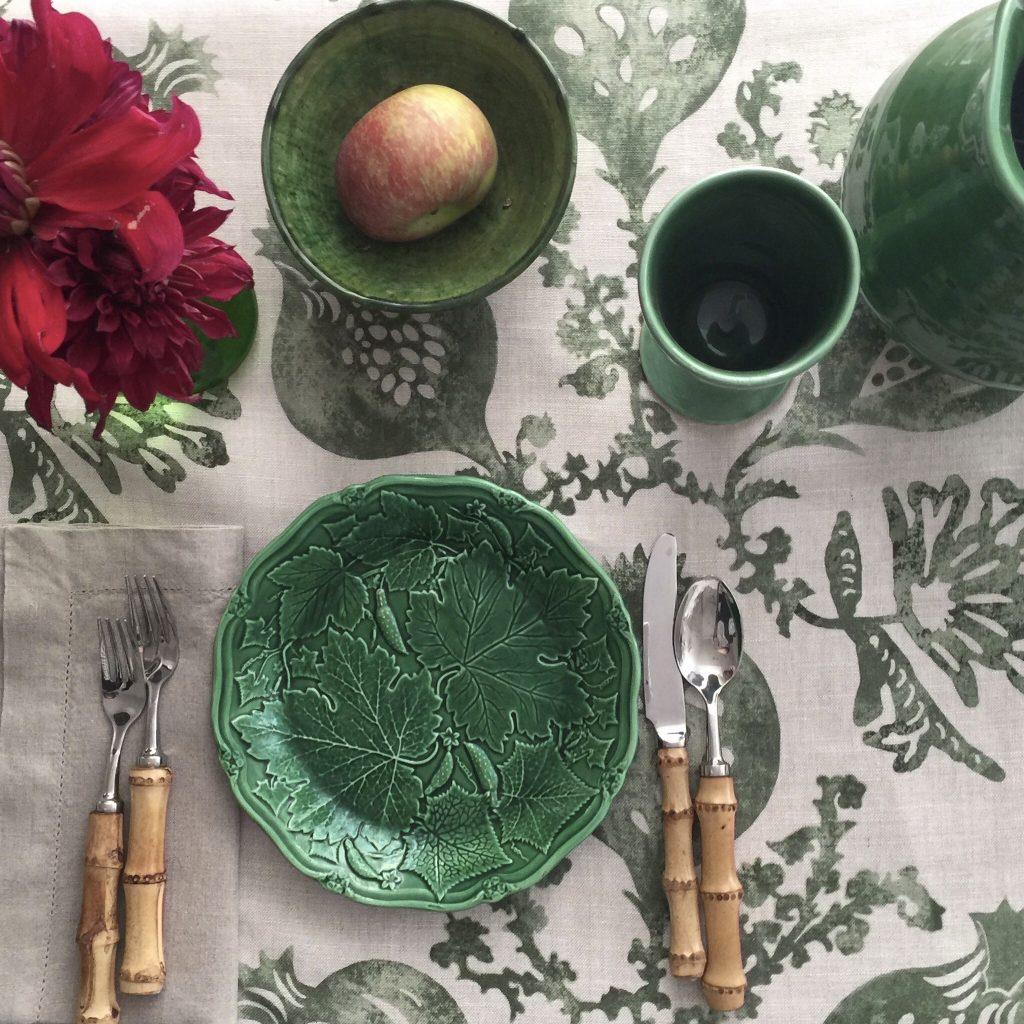 Botanica Trading, Sage, Pomegranate, Dining room, Dining room table, Cutlery, Interior design