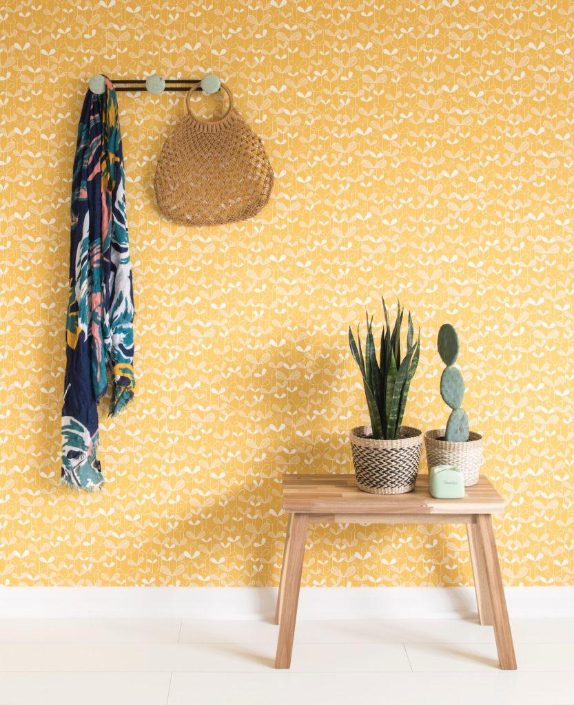 Miss Print, Saplings, Sunflower Yellow, Decor, Interior design, Entrance hall