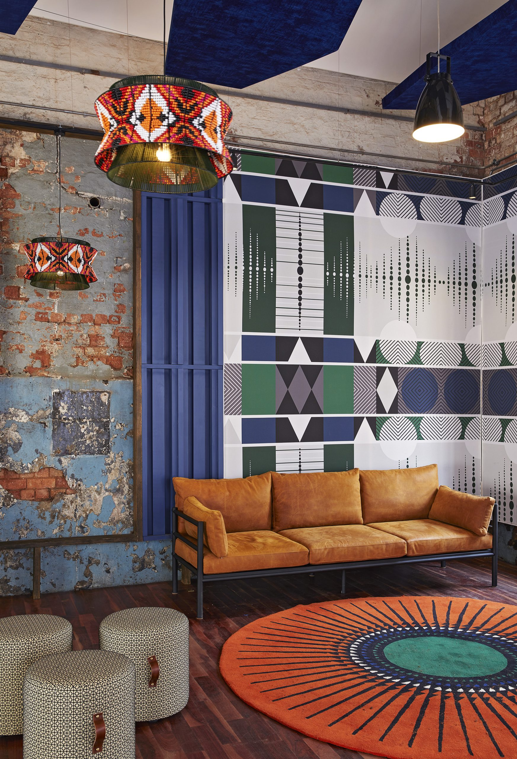 Flame Studios, Constitutional Hill, Johannesburg, South Africa, Interior design, Tribal, Traditional, African, Vibrant, Patterns