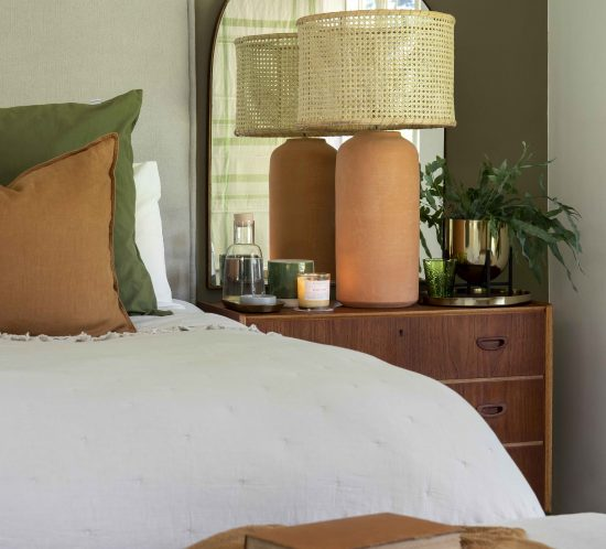 Kelly Adami, Misha Levin, Copperleaf Studio collaboration, Bedroom decor, Interior decor, Natural colours, Earthy tones, Casual aesthetic