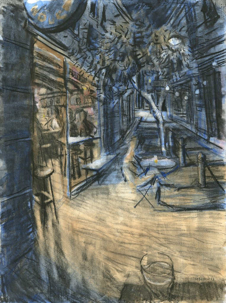 """Drawing by Michael Beckurts of The House of Machines, """"Interlude I - Introspective"""""""