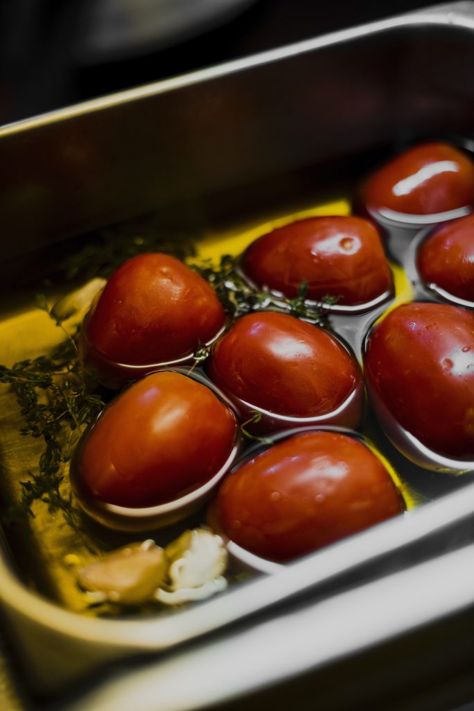 tomatoes at Chefs Warehouse Winebar & Pinchos, Claire Gunn photography