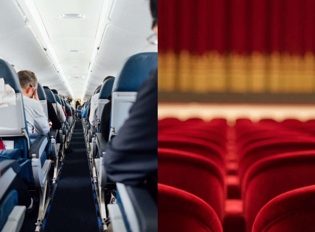Theatre versus flying in a plan during covid-19