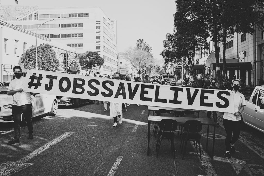 Liam Tomlin, Jobs save lives protest, COVID-19, Cape Town 2020 #jobssavelives